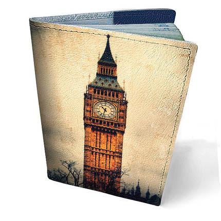 """Кожаная обложка для паспорта """"Биг Бен"""", фото 2"""