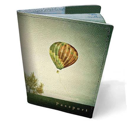 """Кожаная обложка для паспорта """"По небу"""", фото 2"""