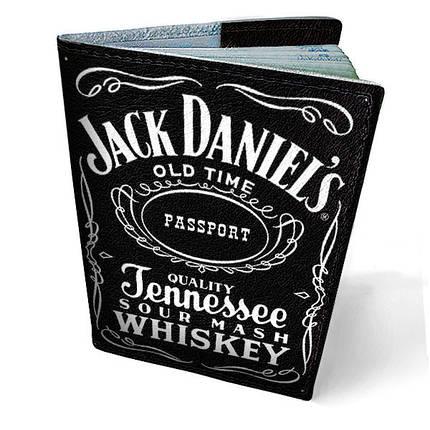"""Кожаная обложка для паспорта """"Jack Daniel's"""", фото 2"""