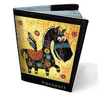 """Кожаная обложка для паспорта """"Пегас"""""""