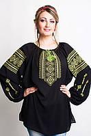 Женская вышитая шифоновая блузка с длинным рукавом
