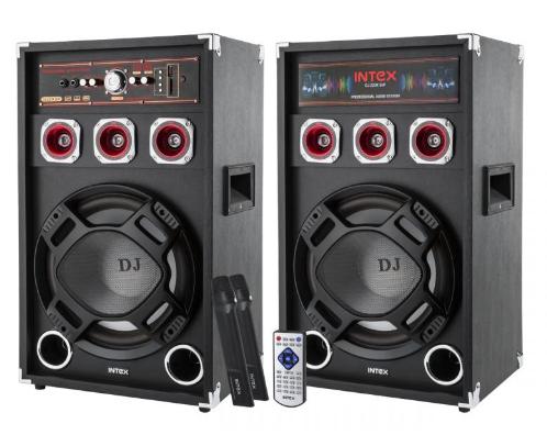 Комплект активных колонок с FM приемником INTEX DJ-220K SUF