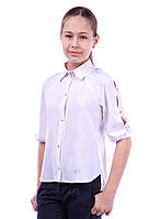 "Блуза школьная для девочки ""АR"""