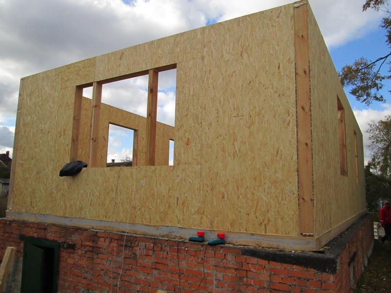 Монтаж дома из SIP-панелей 96 м.кв.