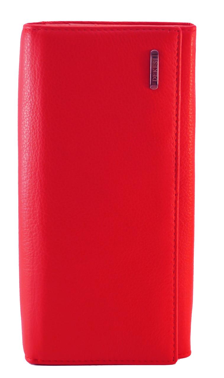 Стильный кожаный красный женский кошелек DEKESI art. 5242