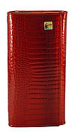 Кожаный красный лаковый женский кошелек H.VERDE art.2551-44 red, фото 1