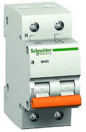 Автоматические выключатели Schneider Electric 2 полюсные