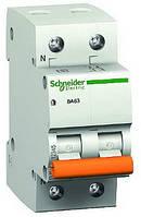 Автоматический выключатель 2-полюсный Schneider Electric BA63 2P 63A C 11219