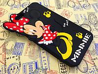 Резиновый 3D чехол для iPhone 6 Plus Minnie чёрный