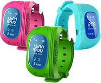 Детские умные часы с GPS трекером Q50 , фото 1