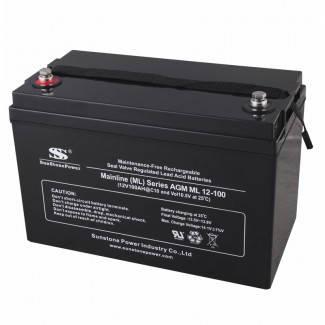 Аккумуляторная батарея ML 12-100 (AGM) для ИБП, фото 2