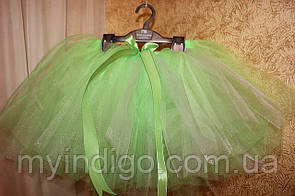 Нарядная юбка пачка салатового цвета