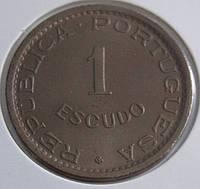 Монета Анголы 1 эскудо 1963 г.