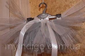 Нарядная юбка пачка серебристого цвета