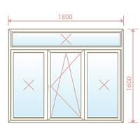 Пластиковое окно 1800х1600(1 створка) - Magazin Okon