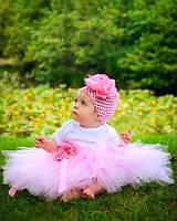 Розовая юбка пачка для девочки