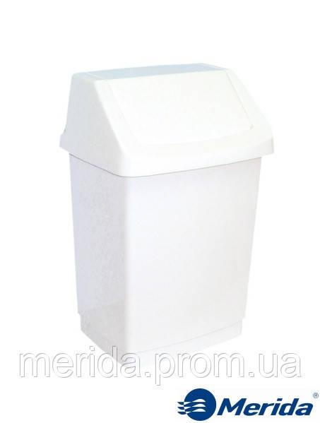 Корзина для мусора 15 л. с поворотной крышкой Merida