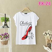 Женская футболка оптом, 9 видов серия z6343