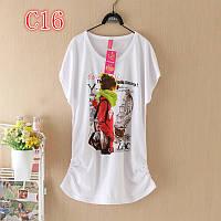 Женские футболки оптом 8 принтов z6341