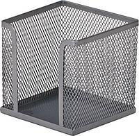 Куб для бумаги Buromax бокс 100х100x100мм метал. серебро BM.6215-24