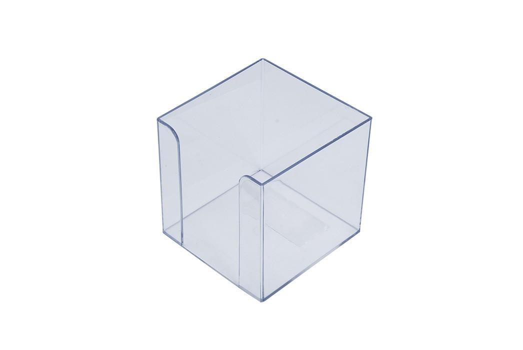 Куб для бумаги АРНИКА бокс 90х90х90мм Jobmax прозрачный 83032