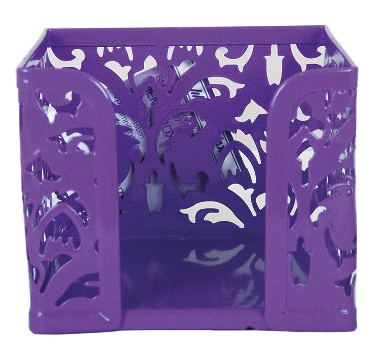 Куб для бумаги Buromax Barocco бокс 80x100х100мм метал. фиолет BM.6216-07