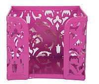 Куб для бумаги Buromax Barocco бокс 80x100х100мм метал. розовый BM.6216-10