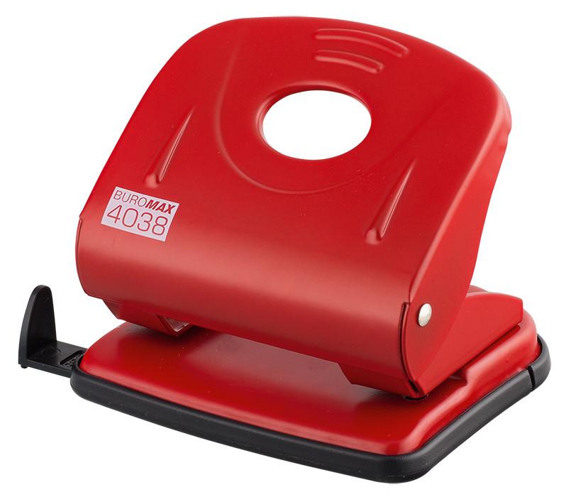 Дырокол 30 л Buromax металлический красный BM.4038-05
