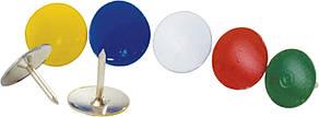 Кнопки Buromax ассорти цветов никелированные 100шт (BM.5104)