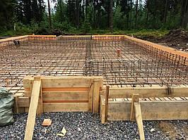 Заливка фундамента под дом из пеноблоков 4