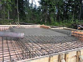 Заливка фундамента под дом из пеноблоков 6