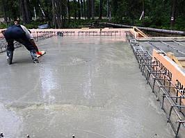 Заливка фундамента под дом из пеноблоков 7