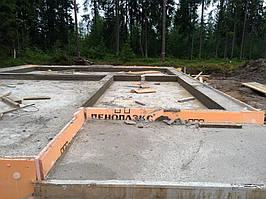 Заливка фундамента под дом из пеноблоков 8