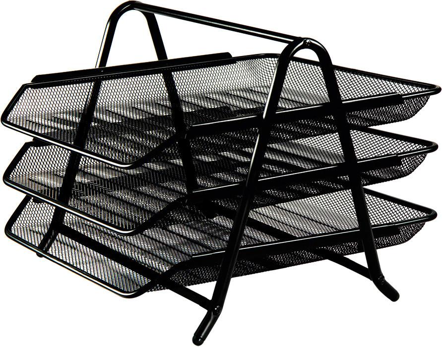 Лоток горизонтальный Buromax 3 в 1 350x295x270мм металлический чёрный BM.6252-01