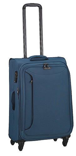 4-колесный практичный чемодан из полиэстера средний 69/80 л. March Delta 2782/54 синий