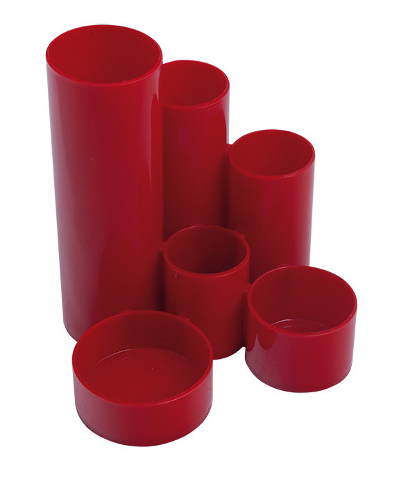 Подставка пласт канцелярская красный