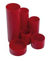 Подставка пласт. канцелярская, красный