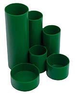 Подставка пласт. канцелярская, зеленый