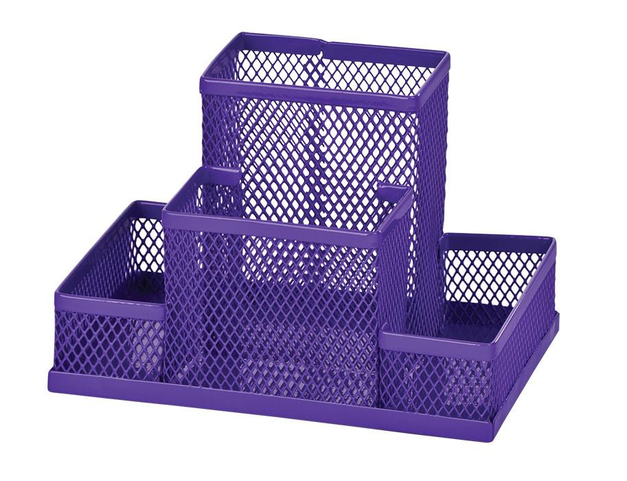 Подставка-органайзер ZiBi 150x100x100мм металл фиолетовый (ZB.3116-07)
