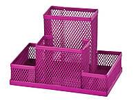 Прибор настольный 150x100x100мм металлический розовый