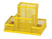 Прибор настольный 150x100x100мм металлический желтый