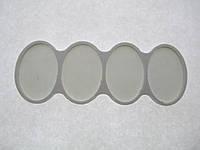 Органайзер для набора бисера, 4 шт. на палитре. Размер общий 142 х 51 мм.