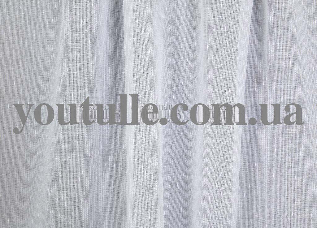 Льон тюль білого кольору
