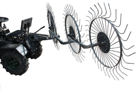 Грабли ворошилки для минитрактора Солнышко (на 3 колеса)