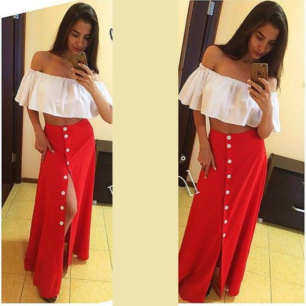 Женская юбка с пуговицами
