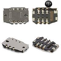 Коннектор SIM-карты для Blackberry 8520, оригинал