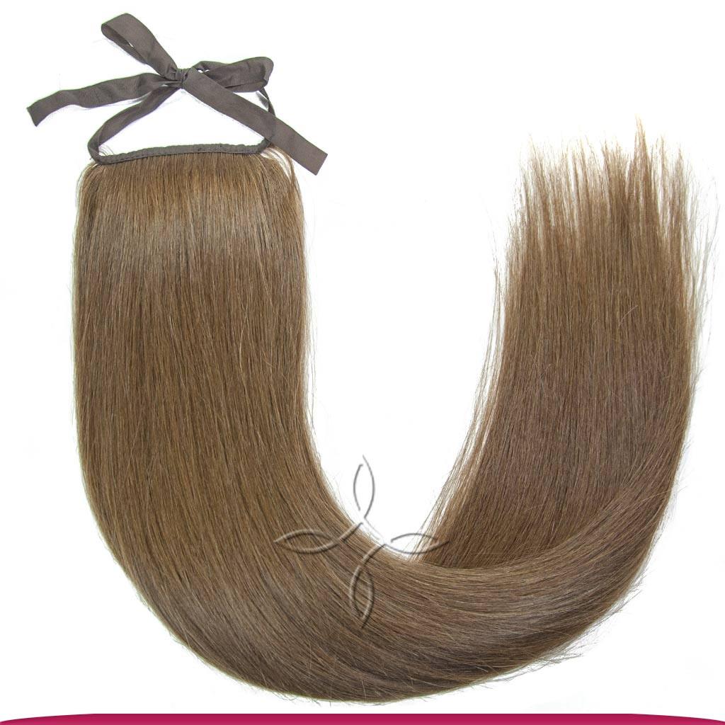 Шиньон-Хвост из Славянских Волос на Ленте 60 см 100 грамм, Шоколад №05