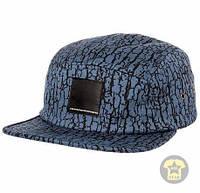 Летняя кепка ( бейсболка , снепбек ) WeSC The Bark 5 Panel Hat in Congo Blue ( синий )