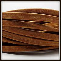 Шнур замшевый 10*5 мм, цвет песок (20 см)