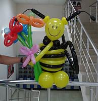 """Фигура из шариков """"Пчелка №-1"""""""